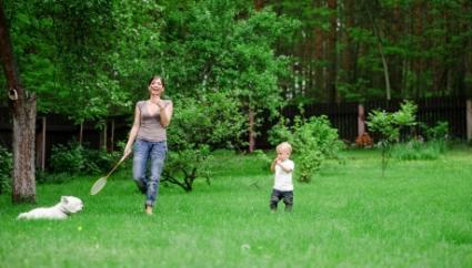 Family Badminton Game