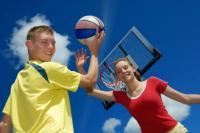 Family Basketball Game
