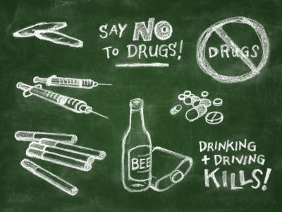 Say No to Drug Slogans http://addiction.lovetoknow.com/addiction-recovery-interviews/causes-addiction-interview-dr-katey-baruth