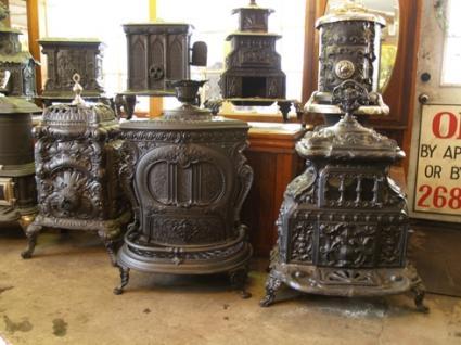 Antique Cast Iron Stoves - Antique Cast Iron Wood Stove WB Designs