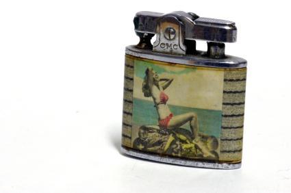Vintage marble cigarette lighter
