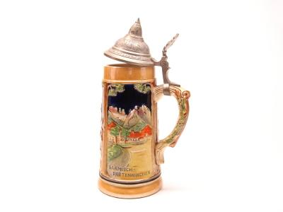 german crystal german crystal beer stein or tankard c1904 $ 675 00