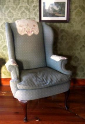 wingback chair source having a queen anne