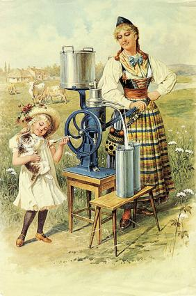"cream separator advertisment ""Published before 1923 and public domain in the US."""