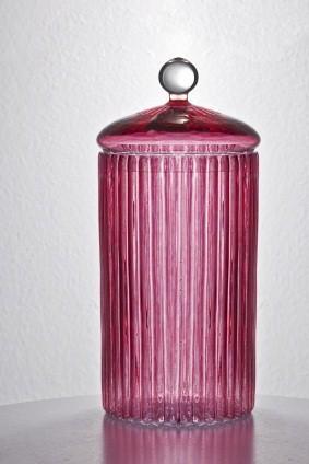 vintage purple jar