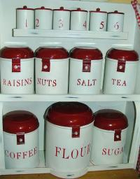 enamel canisters