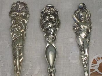 art nouveau figural sterling