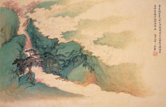 Peach Blossom, Fishing Boat Wang Hui