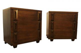 Mid century danish modern bachelor chests