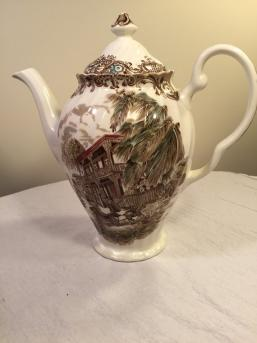 VintageFrench Provincial Ironstone teacoffee pot
