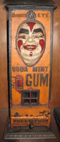 Blinkey Eye Soda Mint Gum Vending Machine, c.1907
