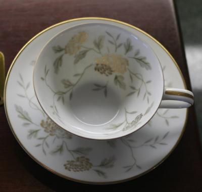 Noritake Janice teacups and saucers