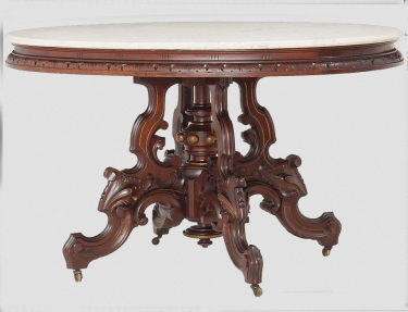 Marble Topped Table From SouthHamptonAntiques.com And Ruby Lane