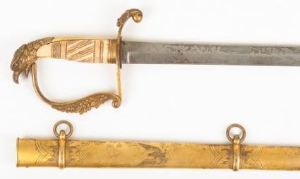 American Federal Period War Of 1812 Eagle-head Sword