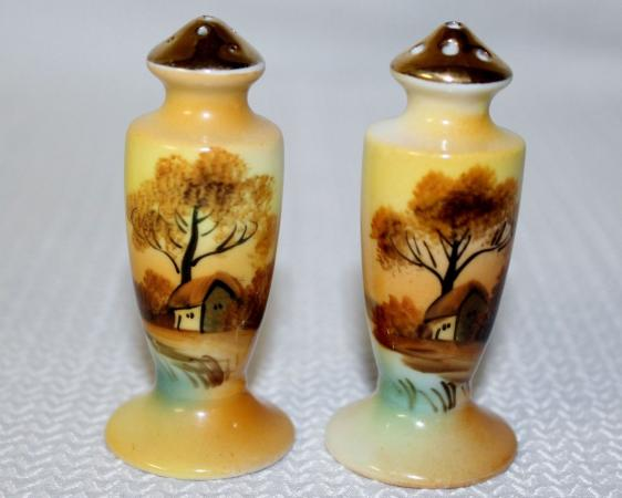 noritake china salt and pepper shakers