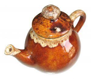 Roseville tea pot