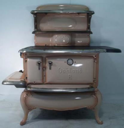 Antique stoves are a beautiful addition to a vintage kitchen.