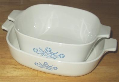 Vintage Corningware went from freezer to oven to table with ease.