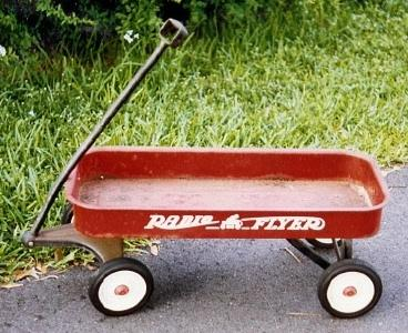 Antique Radio Flyer Wagon