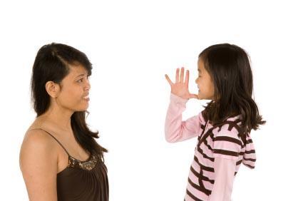Using sign language