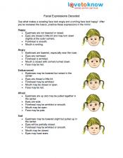 Printables Worksheets For Kids With Autism social skills activities for kids with autism facial expressions