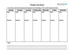 Printable Goal Sheets for People With Autism