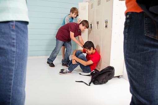 boys bully classmate