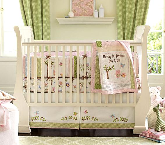 Baby girl nursery themes slideshow Baby girl bedding