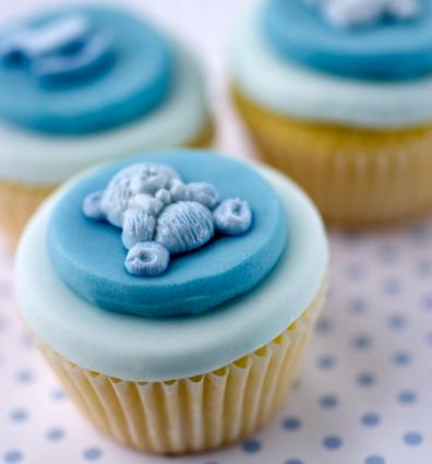 unique and complex baby shower cupcakes