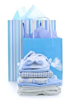 Collection of baby shower gifts; Copyright Elena Elisseeva at Dreamstime.com