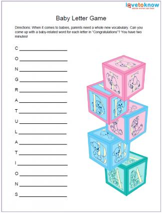 free printable baby shower games com