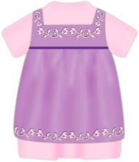 baby dress clip art