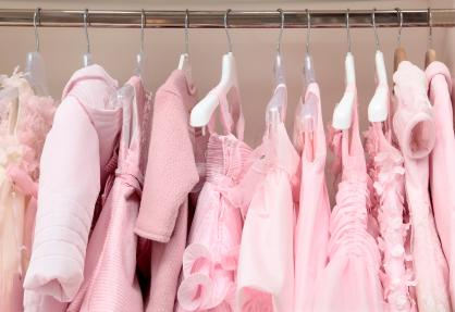 Pink baby clothing