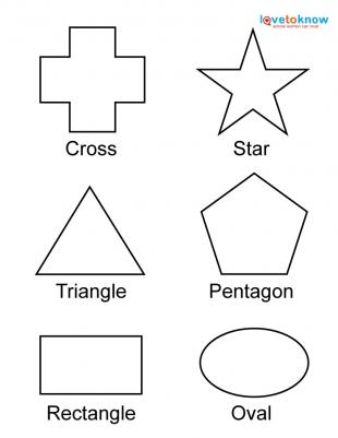 free shapes for toddlers labeled - Free Printables For Toddlers