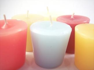 Votive candles; copyright Catherine Lall at Dreamstime.com
