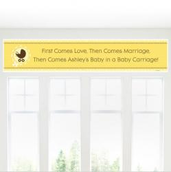 Neutral Baby Carriage Banner from BabyShowerStuff.com