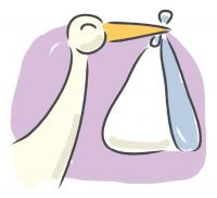 stork baby clip art