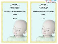 angel poem baby shower invitation