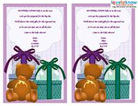 gift poem baby shower invitation