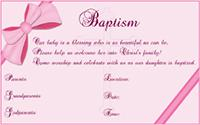 Baptism invitation 1