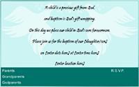 Baptism invitation 4
