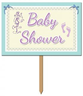 Baby shower yard sign