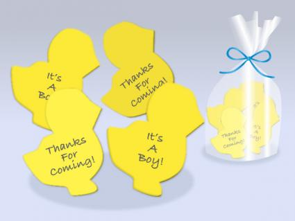 New chick magnet baby shower favor