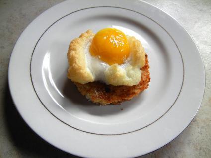 Fluffy egg on toast