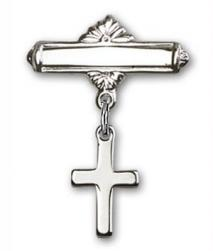 Baby pin with cross charm