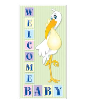 Stork Welcome Baby door sign