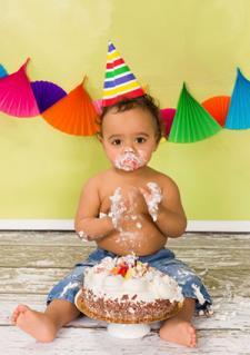 Smash cake baby boy