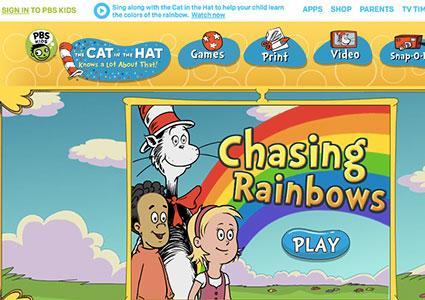 Screenshot of Chasing Rainbows Game