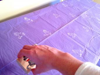 Sock monkey tablecloth