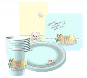 Precious Moments baby shower set